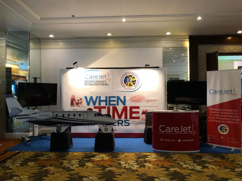 CareJet Exhibition Booth – PCEM's Preferred Emergency Medical Assistance and Air Ambulance Partner